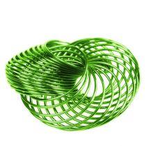 Trådhjul äpplegrön Ø4,5cm 6st