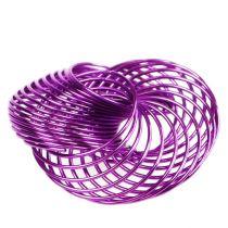 Trådhjul lavendel Ø4,5cm 6st