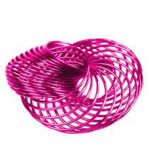 Trådhjul Rosa Ø4,5cm 6st