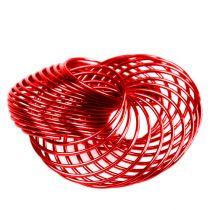 Trådhjul röd Ø4,5cm 6st