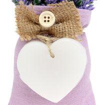 Lavendelväska 18cm med vaxhjärta