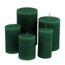 Färgade ljus mörkgrön i olika storlekar