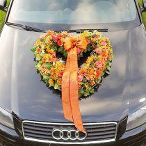 Blommor skum hjärta öppen blommig grön 38 cm 2st bröllop dekoration