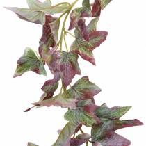 Ivy kransgrön, vinröd 182,5 cm