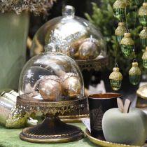 Dekorativt hängande ekollon, höstfrukter, julgransdekorationer med gulddekor H8cm Ø6cm 4st