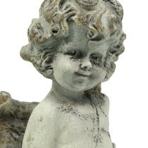 Dekorativ ängel Cupid med hjärta 25cm 2st