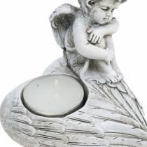 Grave smycken telyshållare ängel 10cm 2st