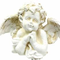 Gravdekorativ dekorativ plugg ängel som ber 5cm 4st