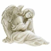 Dekorativ ängel sitter 19cm x 13,5 cm H15cm