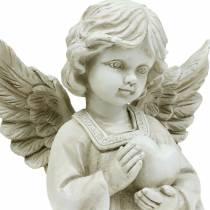Dekorativ ängel med hjärta H25cm