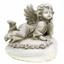 Dekorativ ängel på hjärta med LED 16cm 19cm H14.5cm