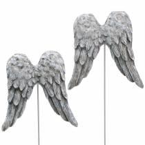 Dekorativ plugg ängelvingar 10cm 3st