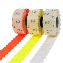 Etiketter 26x12mm olika färger 3 rullar