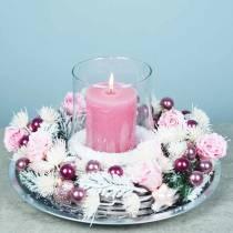Eviga rosor medium Ø4-4,5cm rosa 8st