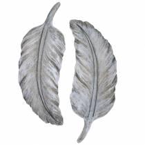 Grave smycken fjäder 18cm x 6,5 cm 4st