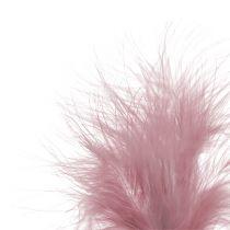 Penna för att klicka ljusrosa L30cm 12st