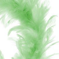 Fjäderring ljusgrön Ø15cm 4st