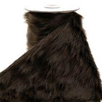 Dekorativ pälsband mörkbrun 16x200cm