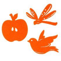 Filt scatter dekoration orange 24st