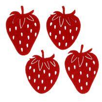 Filt jordgubbar röd 32st