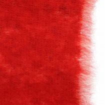 Filtbanddekoration tvåfärgad röd, vit Grytband jul 15cm × 4m
