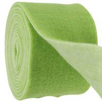 Filtband 15 cm x 5 m tvåtongrönt, vitt