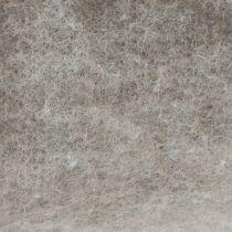 Filttejp, grytband grå-natur 15cm 5m