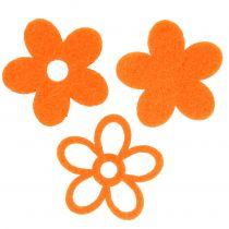 Filtblomma 4cm orange 72st
