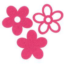 Filtblomma för att strö rosa som dekorationsset Ø4cm 72st
