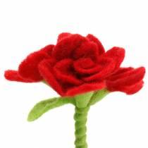 Filtblomma 15cm med 3 blommor