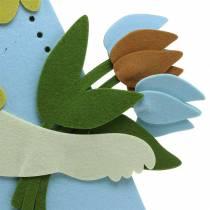 Stor påskhårfiltgrädde, ljusblå, 44 cm H101cm fönsterdekoration
