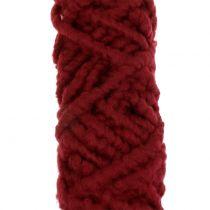 Filtsnöre fleece Mirabell 25m mörkröd