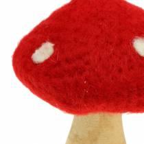 Paddelpall höstdekoration röd H13,5cm 2st