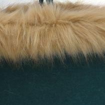 Filtväska med pälskantgrön 38cm x 24cm x 20cm