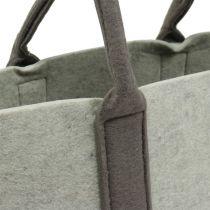 Filtväska grå / brun 54cm x 34cm x 15cm