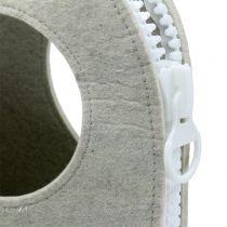 Filtväska grå H58cm