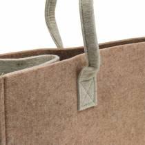Filtväska ljusbrun 50 × 25 × 25 cm