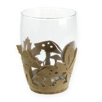 Filtkruka höstfilt dekorationsplanter filt beige 2st