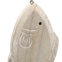 Dekorativ hängande träfisk 21cm 2st