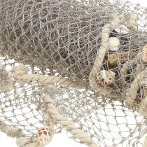 Fisknät med skal och drivved 135cm