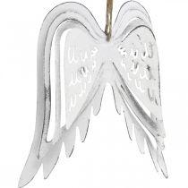 Änglavingar att hänga, juldekoration, metallhängen vita H11,5cm W11cm 3st