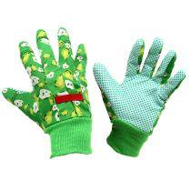 Kixx damhandskar storlek 8 grön med motiv