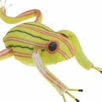 Dekorativa grodor sorterade med tråd 7cm 3st