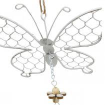 Vårdekoration, metallfjärilar, påsk, dekorationshängande fjäril 2st