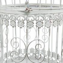 Vårdekoration, fågelbur att hänga, metalldekoration, vintage, bröllopsdekoration 28,5 cm