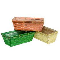 Vårkorg 25x13x9cm orange, gul, grön 6st