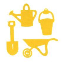 Trädgårdsverktyg kändes gula 24st