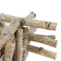 Växtbehållare björkgrenar vit tvättade 28cm x 28cm H10cm