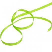 Rosettband, presentband ljusgrönt 6mm 50m