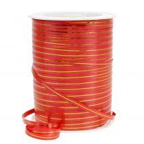 Presentband röd med guldband 4,8 mm 250m